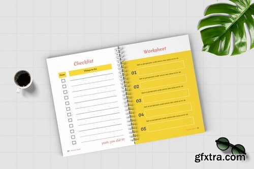 Worksheet Daily Planner Book - One