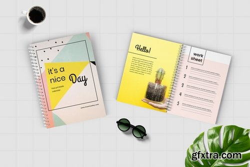 Worksheet Daily Planner Book - Two