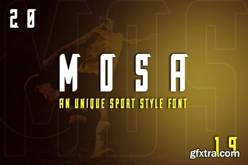 Mosa Exclusive Display Font