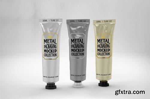 Metal Squeeze Tubes Packaging Mockup
