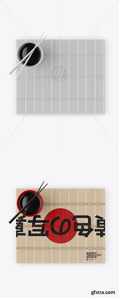 Bamboo Tablecloth Mockup - Top View 27310