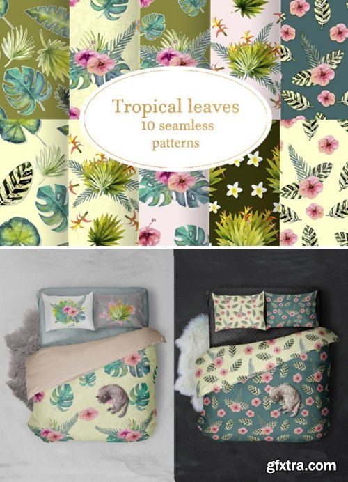 Tropical Leaves Seamless Patterns 1515696