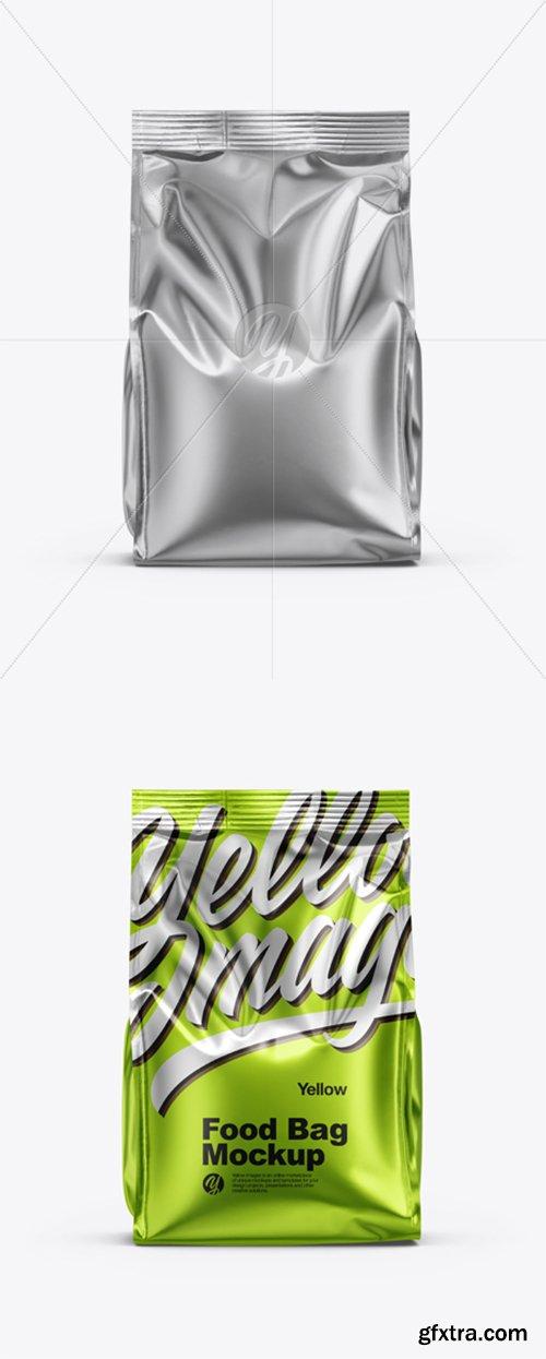 Metallic Food Bag Mockup 35325