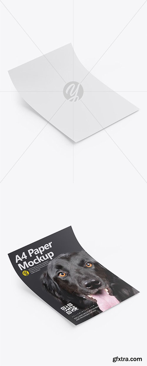 A4 Paper Mockup - Half Side View 33979