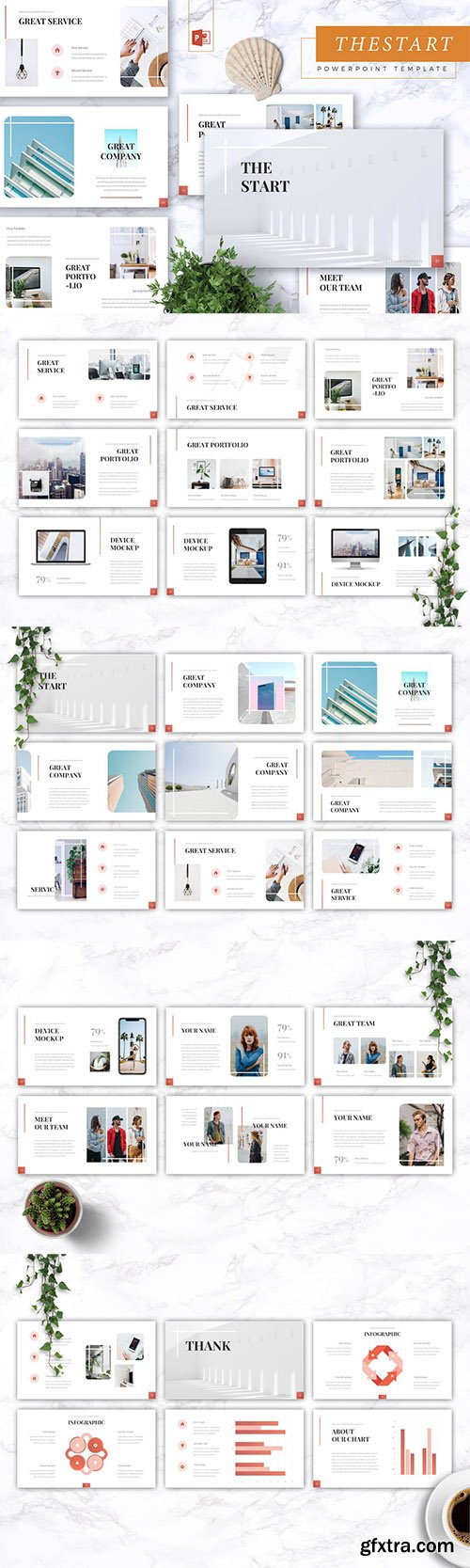 THE START - Company Profile Powerpoint, Keynote and Google Slides Templates