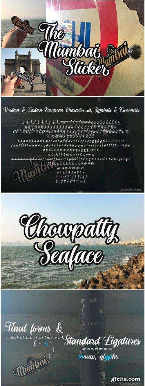 The Mumbai Sticker Font