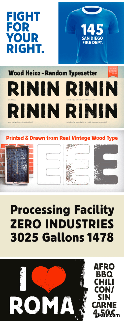Wood Heinz No.4 Font Family