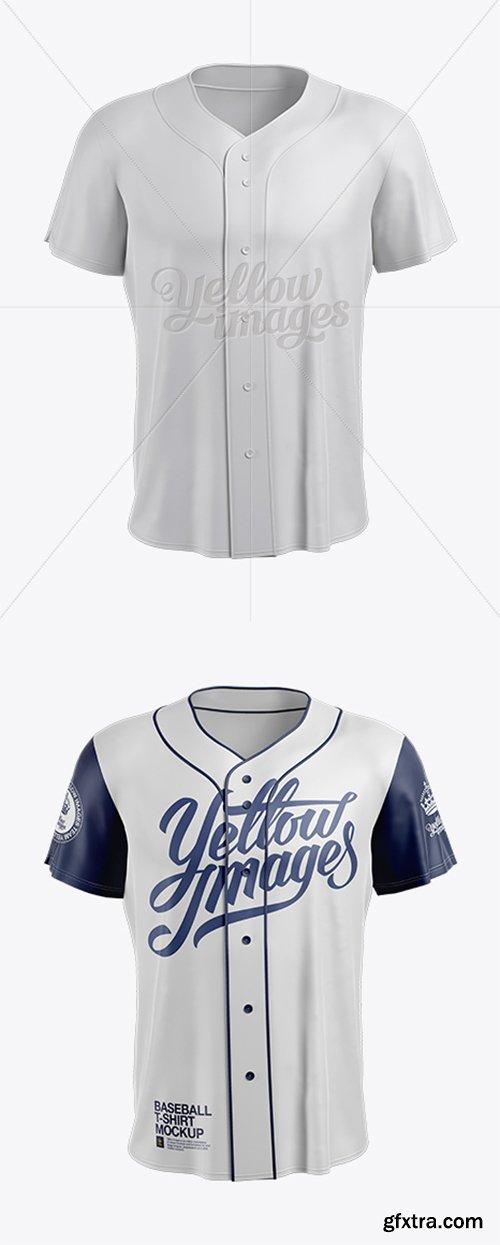 Men's Baseball Jersey Mockup - Front View 14133