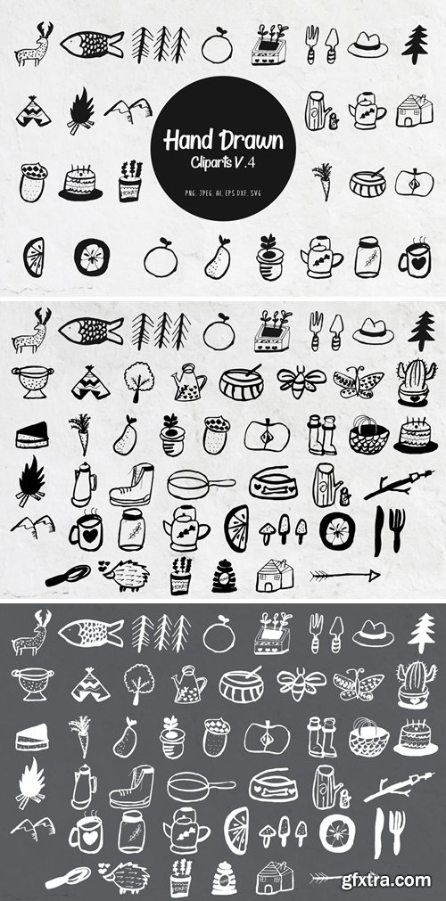 45+ Handdrawn Miscellaneous Cliparts Ver. 4