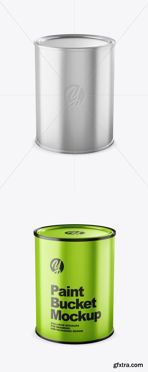 Metallic Paint Bucket Mockup 38352