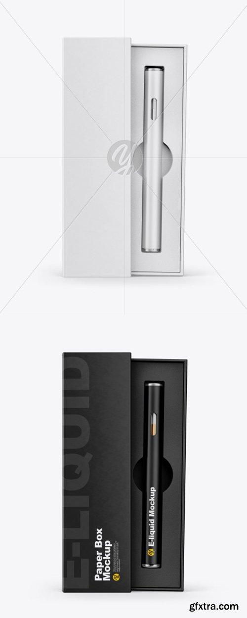 Opened Box w/ Vape Pen Mockup 41466