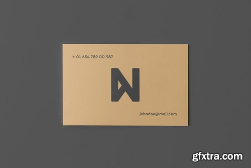 Square Business Card Mock-up