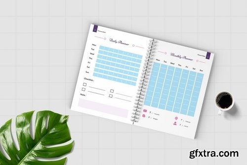 Worksheet Daily Planner Book - Four