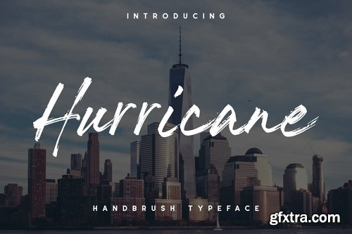 The Hurricane Handbrush Font