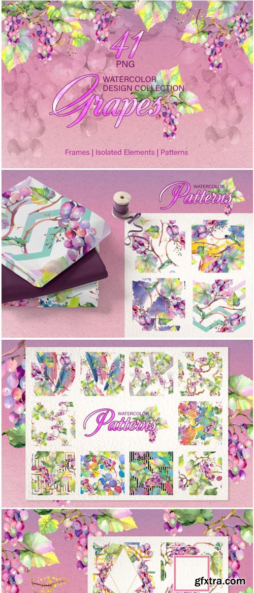 Grapes Watercolor Png 1530185