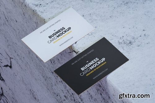 Simple Realistic Business Card Mock-Up Template
