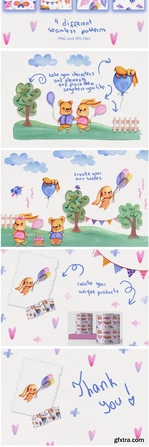 Party Time Watercolor Collection 1531020