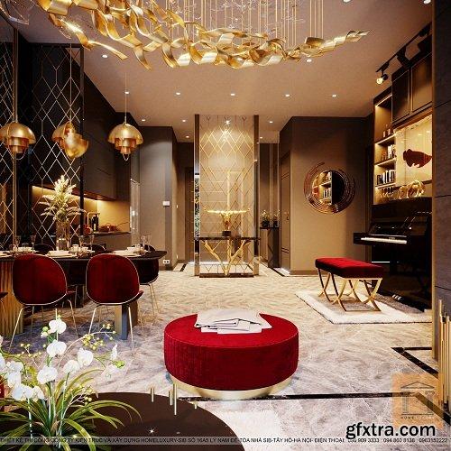 Full Modern Apartment 10 3D Interior Scene