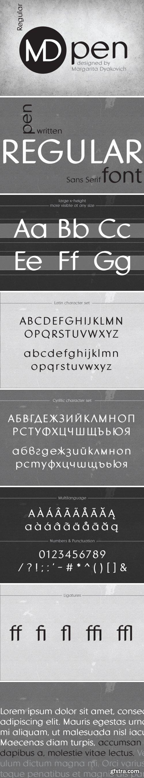 MDpen Font