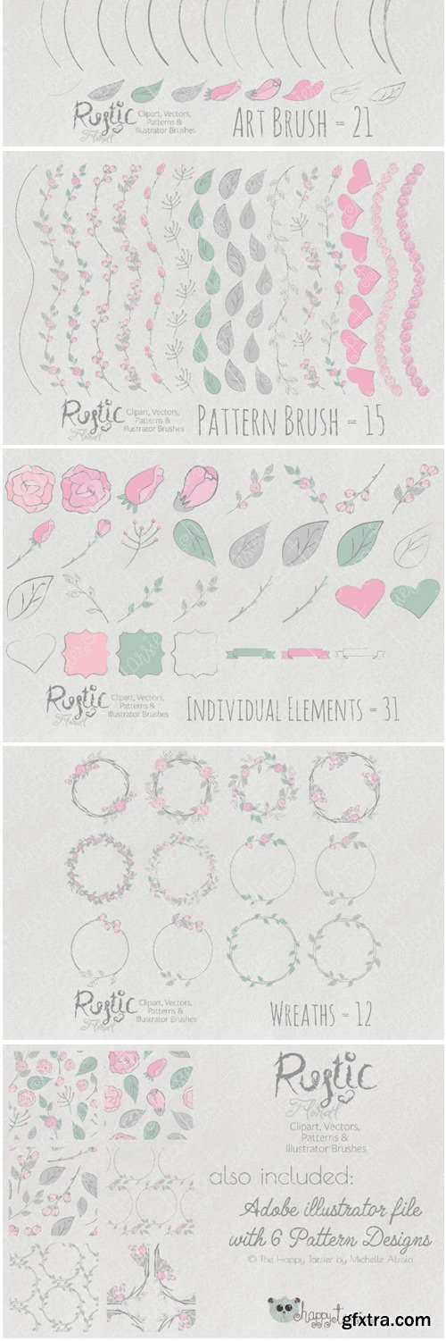 Rustic Floral Graphics Pack 1536230