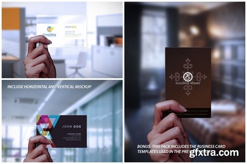 Transparent Frosted Business Card Mockup