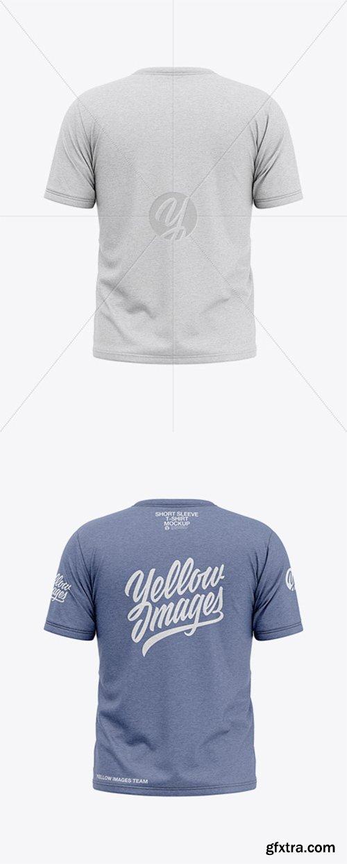 Men's Heather Short Sleeve T-Shirt Mockup - Back View 36773