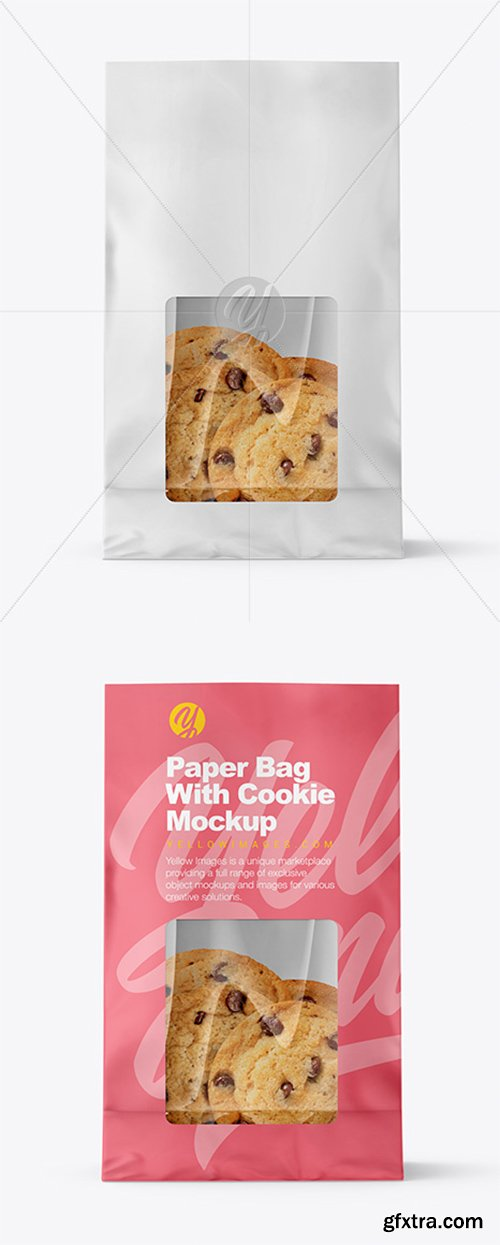 Paper Bag with Cookie Mockup 38334