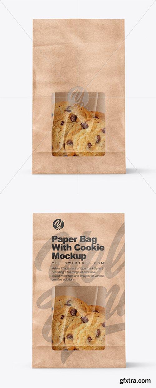 Kraft Bag with Cookie Mockup 38336