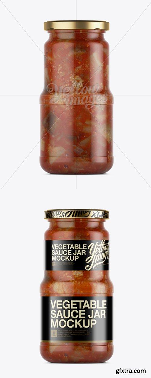 Canned Vegetable Sauce Jar Mockup 11570