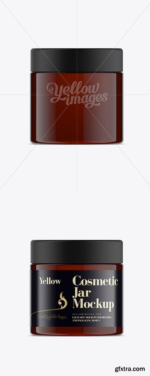 250ml Amber Plastic Cosmetic Jar Mock-Up 11499
