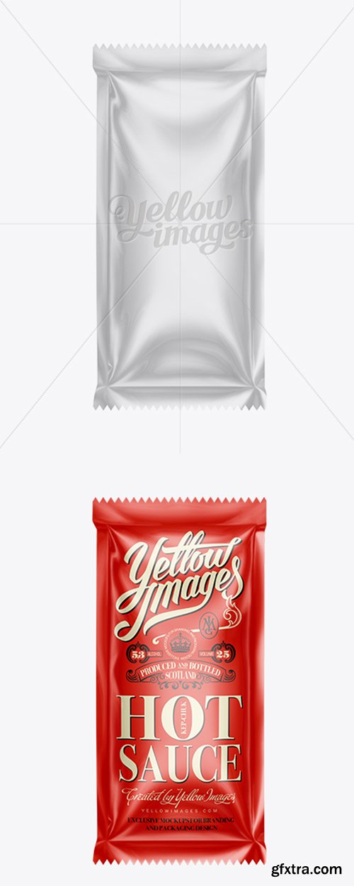 Plastic Sauce Bag Mockup 11468