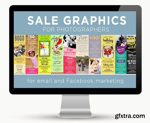 Sale Graphics for Photographers for Email and Facebook Marketing