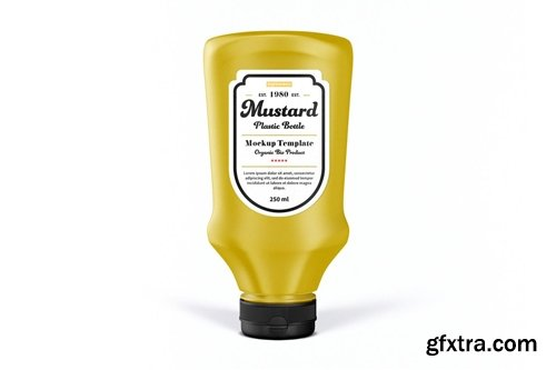 Mustard Bottle Mock-Up Template