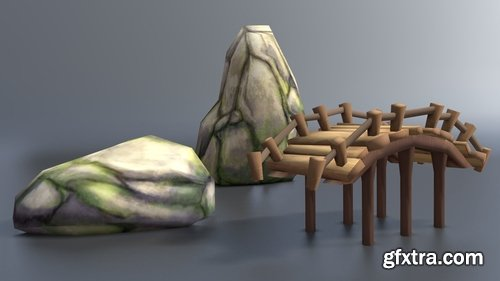 Cgtrader - Lowpoly environment asset pack Low-poly 3D model