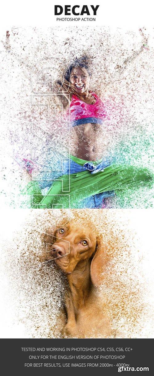 GraphicRiver - Decay Effect Photoshop Action 24011306