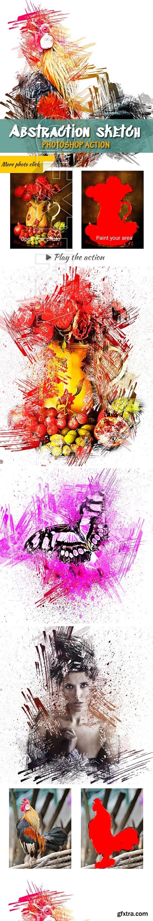 GraphicRiver - Abstraction Sketch Photoshop Action 23925030