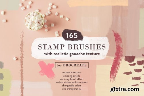 CreativeMarket - Abstract Gouache - Procreate Stamps 3653557