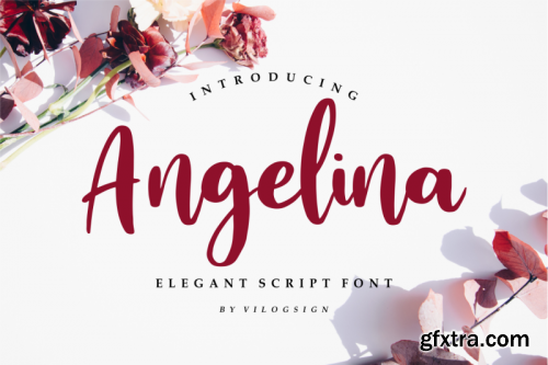 Angelina // Playful Script Font