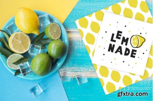 CreativeMarket - Summer Font and Lemons Pack 3855066
