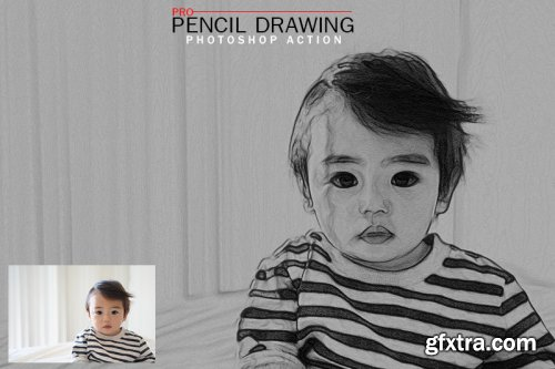 Pro Pencil Drawing Photoshop Actions