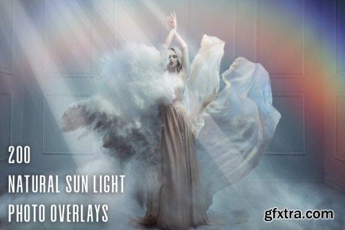 CreativeMarket - 200 Natural Sun Light Photo Overlays 3617079