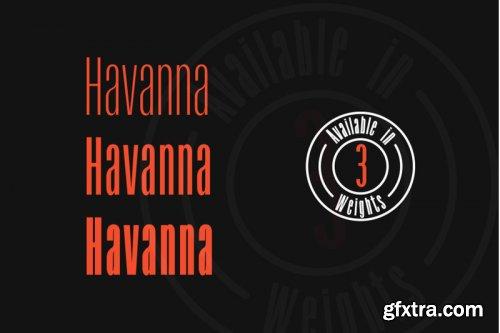 Havanna - Tall sans typeface with 3 weights