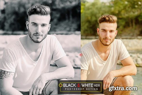 5 Black & White HDR Photoshop Actions