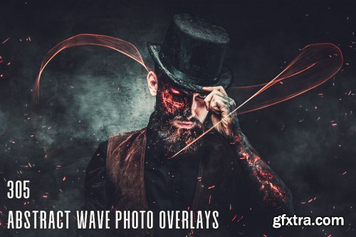 305 Abstract Wave Photo Overlays