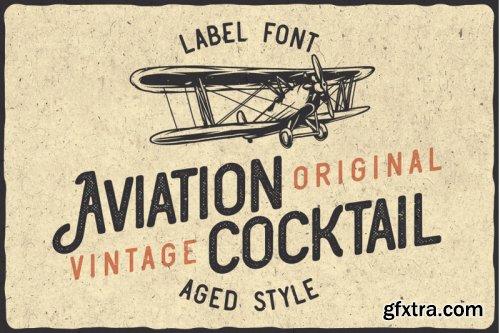 Aviation Cocktail Font + BONUS