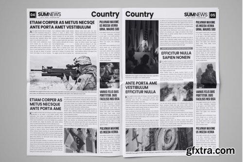 CreativeMarket - 16 Page Newspaper Design v4 3859348