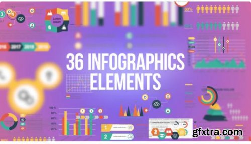 36 Infographics Elements Pack - After Effects 251311