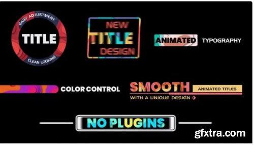 Colorful Title Animation - After Effects 250239
