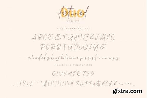 Destined Duo - Brush Sans & Signature Script