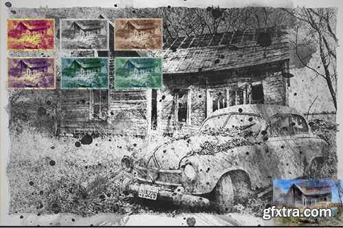 Old Mixed Art Photoshop Templates